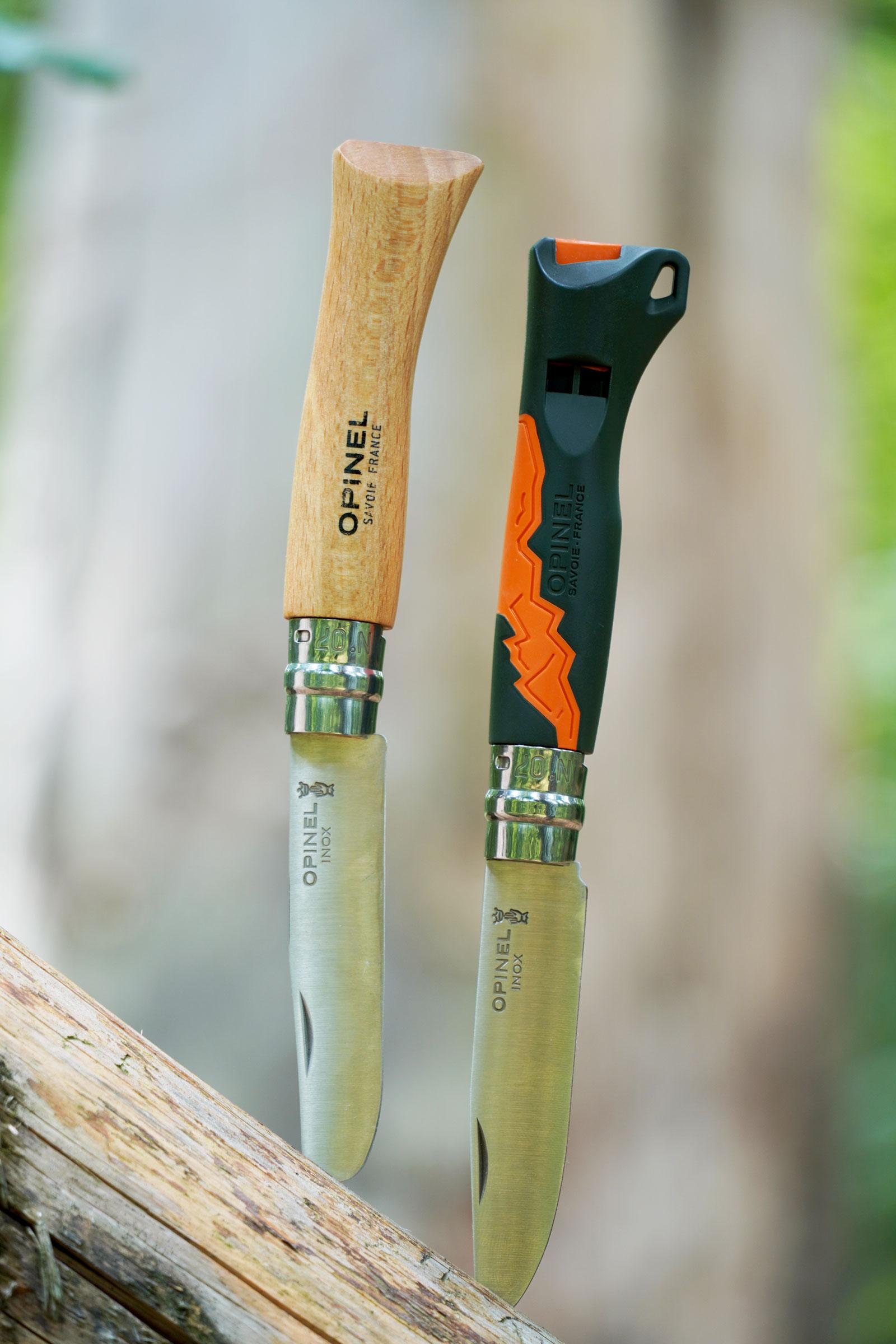Opinel Kindermesser rostfrei Buchenholz grün