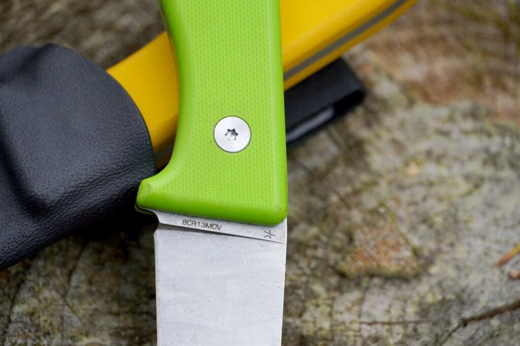Die Klinge des Schnitzel UNU besteht aus 8CR12MOV Messerstahl.